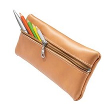 Pencil bags leather